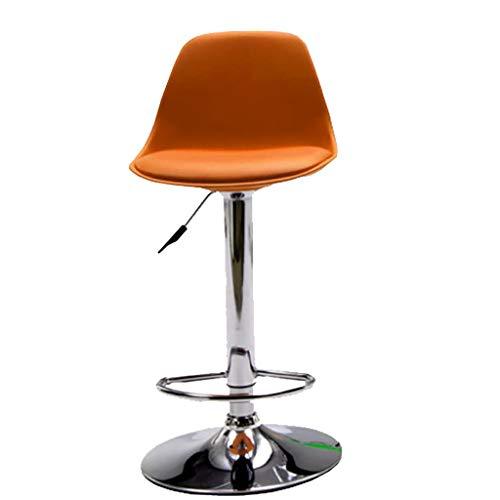 Chaise Haute de comptoir de Barre d'ascenseur de Dossier de Rotation de 360 degrés pour Le Tabouret de Petit déjeuner de ménage LI Jing Shop (Color : Orange)