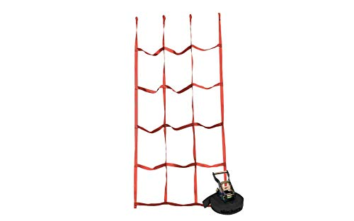 Slackers Ninja Net- Red | Ninjaline Net | Cargo Climbing net | Ninja Training | Net for Slackline Obstacle Course