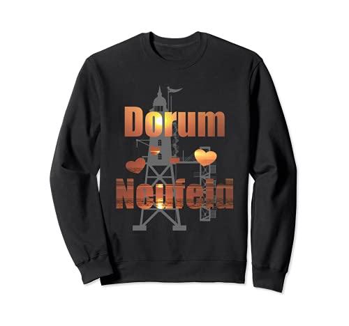 Dorum-Neufeld Wurster Nordseeküste Leuchtturm Obereversand Sweatshirt