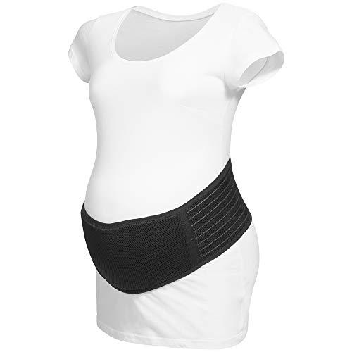 Herzmutter Banda de Embarazo - Cinturón de Maternidad - Banda de Vientre Transpirable - Cinturón de Soporte Abdominal - Elástico-Ajustable-Apoyar - Gimnasia-Deportes-Yoga - 3400 (XXL/XXXL, Negro)