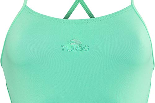 Turbo - Bañador Sinchro SINCRO Profesional Señora, Traje de Baño de Natacion Entrenamiento Competicion, Tira Estrecha Doble Capa (S)