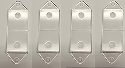 Clear Rocker Switch Plate Cover Guard 4 Pack - Keeps Light Switch ON or Off Protects Your Lights or Circuits from Accidentally Being Turned on or Off.