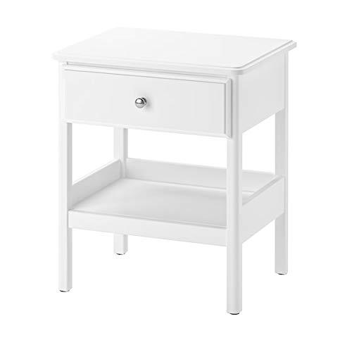MSAMALL TYSSEDAL Nachttisch weiß 51x40 cm langlebig und pflegeleicht Beistelltische Couchtisch Beistelltisch Tisch & Schreibtisch Möbel umweltfreundlich