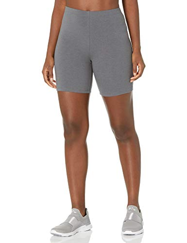 Hanes Women's Stretch Jersey Bike Short, Charcoal Heather, X-Large
