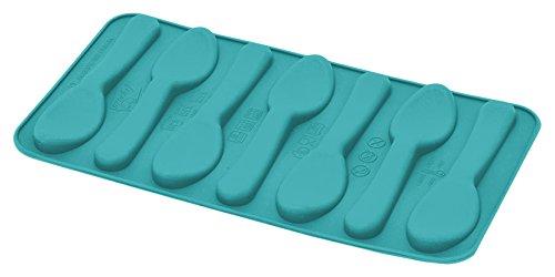 Happy flex hf05678 ghiacciocucchiaio Bac à glaçons, 25.1 x 11 x 0,2 cm, Blue