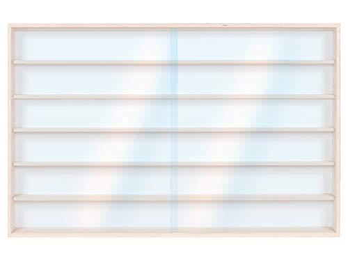 Alsino Setzkasten mit Scheibe Vitrine Modelleisenbahn Sammelvitrine Birke v-16a Spur H0 Märklin 6 Ebenen 150 cm x 58 cm x 8,5 cm mit Nuten für leidenschaftliche Sammler