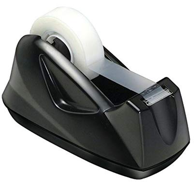 Acrimet Premium Desktop Tape Dispenser Non-Skid Base (Heavy Duty) (Black Color)