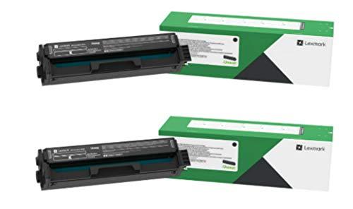 Lexmark C331HK0 Black High Yield Return Program Toner Cartridge 2-Pack for C3326, MC3326