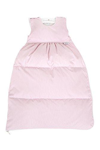 """Tavolinchen Babyschlafsack Daunenschlafsack """"Visconte Streifen"""" Kinderschlafsack – rose – Gr.110"""