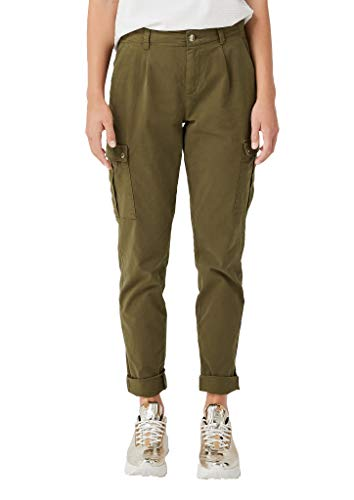 s.Oliver RED Label Damen Smart Chino: Twillhose im Cargo-Stil Military Olive 44