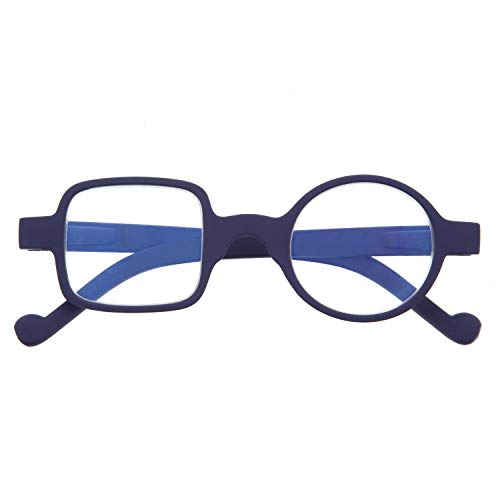 DIDINSKY Gafas de Presbicia con Filtro Anti Luz Azul para Ordenador. Gafas Graduadas de Lectura para Hombre y Mujer con Cristales Anti-reflejantes. Indigo +2.5 – DALI