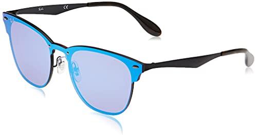 Ray-Ban 3576N, Occhiali da Sole Unisex Adulto, Nero (Violet/Blue Mirror), 47