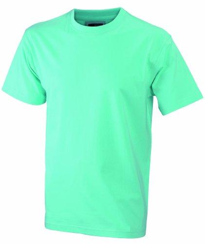 James & Nicholson Jungen Junior Basic Rundhals T-Shirt, Grün (Mint), X-Small (Herstellergröße: XS (98/104))