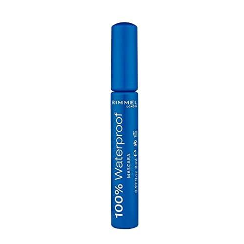 Rimmel London Mascara 100% Waterproof, Mascara Waterproof Lunga Durata, Black/Nero, 8 ml