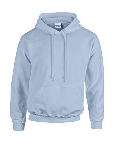 Gildan Herren Adult 50/50 Cotton/Poly. Hooded Sweat Sweatshirt, Gr. M, LightBlue