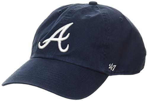 47 Brand Erwachsene Mlb Atlanta Braves Clean Up Kappe, Navy, OSFA