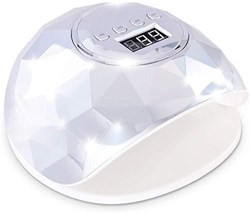 ZOUSHUAIDEDIAN 72W Nail Fast secadora, la luz LED de la lámpara de curado del polaco del gel del salón profesional con 4...