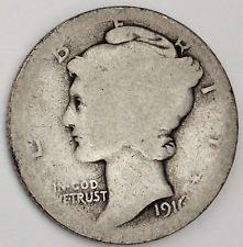 1916 D Mercury Dime