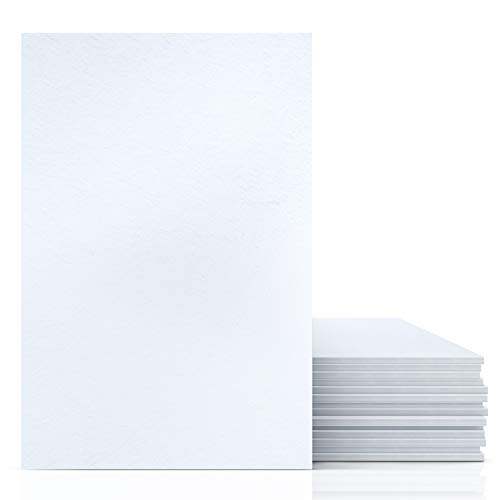 Excelsis Design, Pack of 15, Foam Boards (Acid-Free), 8x10 Inches (Many, 3/16 Inch Thick Mat, White with White Core (Foam Core Backing Boards, Double-Sided Sheet)
