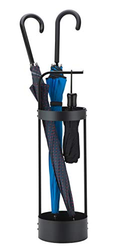 JackCubeDesign Steel Umbrella Stand Entryway Platzsparende Umbrella Holder Organizer für Haustür (Schwarz) - MK444A