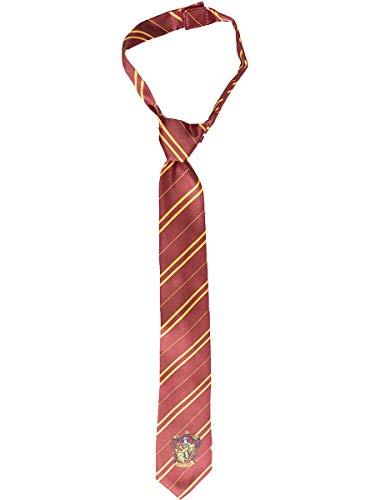 Funidelia | Corbata Harry Potter Gryffindor Oficial para niño y niña ▶ Hogwarts, Magos, Películas & Series - Color: Granate, Accesorio para Disfraz - Licencia: 100% Oficial