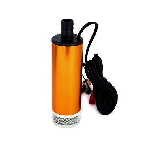 QXYOGO 12v Wasserpumpe DC 12V 30L / min, Aluminiumlegierung Taucher elektrische Bilgepumpe für Diesel/Öl/Wasser/Kraftstoffübertragung, mit Schalter, 12 V Volt 12Volt 12v Pumpe (Voltage : 24V)