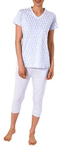 Normann Damen Shorty-Pyjama Kurzarm mit Ananas als Motiv, Coole Optik - 191 205 90 216, Farbe:Flieder, Größe2:44/46