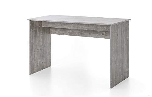 Beauty.Scouts Schreibtisch Tisch Anna Beton, weiß 125x78,5x60cm Bürotisch Arbeitstisch Büroschreibtisch Arbeitsschreibtisch Büromöbel schlicht modern