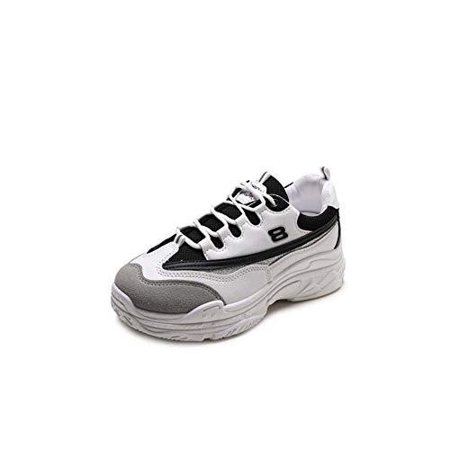 Vrouwen Sneakers 2019 Mode Platform Sneakers Dames Merk Chunky Causal Schoenen Sportschoenen Laag-Top 37 Zwart