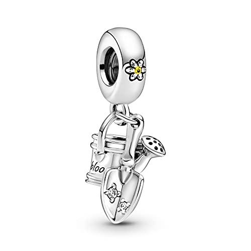 Pandora 925 Colgante de plata esterlina Diy Regadera Paleta Cuelga Moda Plata esterlina Charm Fit Pan Pulsera Colgante Collar Fabricación de joyas de plata