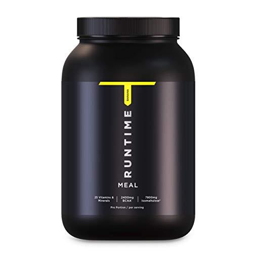 Runtime Meal - 15 Mahlzeiten | vollwertiger Mahlzeitersatz für langanhaltende Sättigung, Energie, Konzentration und Leistungsfähigkeit, mit Vitaminen und Nährstoffen (Banana)