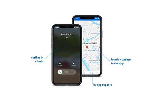MoniMoto - Smart Motorcycle GPS Tracker and Alarm - Suitable for Scooters, Quad Bike ATVs, Snowmobiles - DIY Installation, No Wiring Required (MM6 - Global)