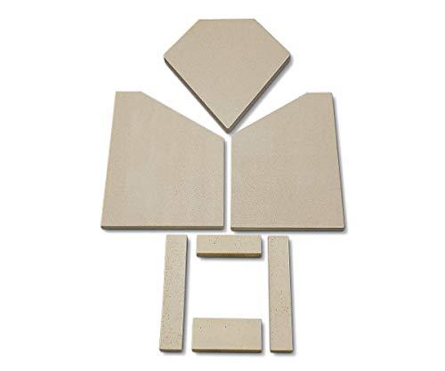 Feuerraumauskleidung für den Attika Quadro Kaminofen - Vermiculite und Schamotte - 7-teilig