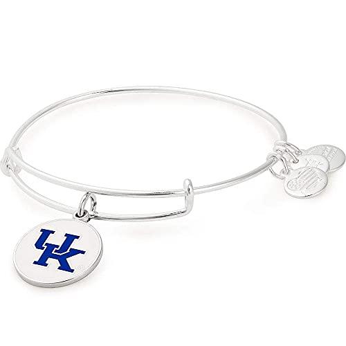 Alex and Ani Women's Color Infusion University of Kentucky Logo II EWB Bracelet, Shiny Silver, Expandable