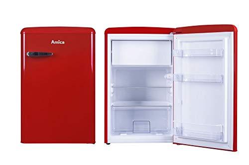 Amica Retro Kühlschrank Rot KS 15610 R 108 Liter mit Gefrierfach Standgerät Chili Red