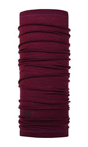 Buff Solid Tour de cou laine mérinos lightweight Vin FR : Taille Unique (Taille Fabricant : Taille One sizeque)