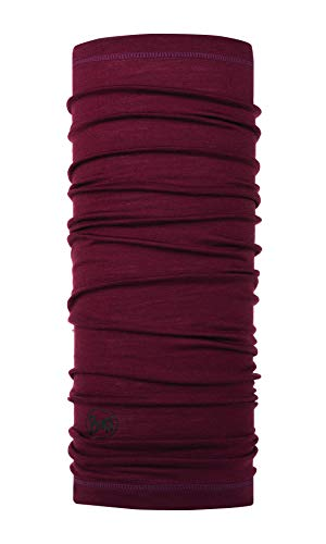 Buff Multifunktionstuch Lightweight Merino Wool, Solid Wine, One Size, 113010.403.10.00