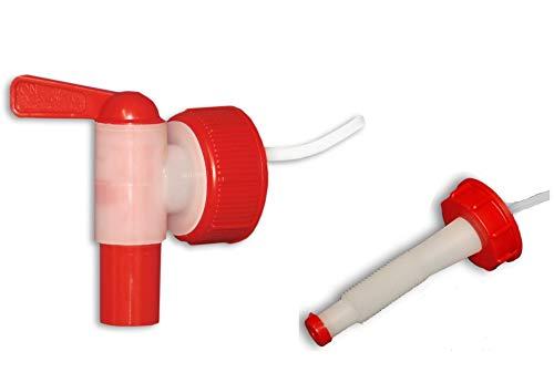 plasteo Grifo aeroflow + 1 Boquilla Flexible para bidón con Apertura DIN 45 (22039+22038)