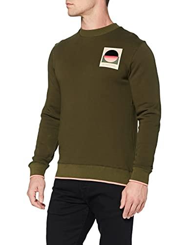 Scotch & Soda Sweatshirt mit Gobelin-Artwork Sudadera, 0360 Military, L para Hombre