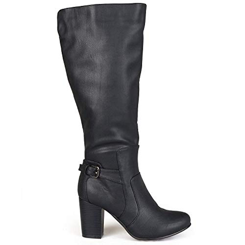 Price comparison product image Journee Collection Womens Carver Round Toe Knee High,  Black Wide,  Size 7.5