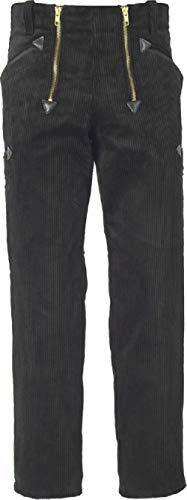 JOB Doppel-Pilot-Zunfthose für Dachdecker/Zimmermann, schwarz, gerade Form (46)