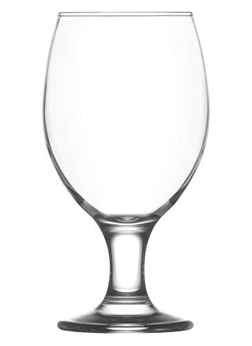 Vikko 13.5 Ounce Stemmed Beer Glasses | Classy and Stylish Stemware – Dishwasher Safe – For Parties, Weddings, and Everyday – Set of 6 Clear Glass Beer Glasses