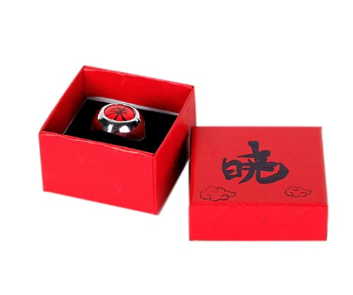 Japansai Anime Naruto Shippuden Akatsuki Uchiha Itachi anillo para Cosplay caja roja embalado sharingan