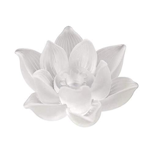 Felimoa 香炉 お香 蓮の花 お香立て ガラス製 禅 仏壇 インテリア 仏具