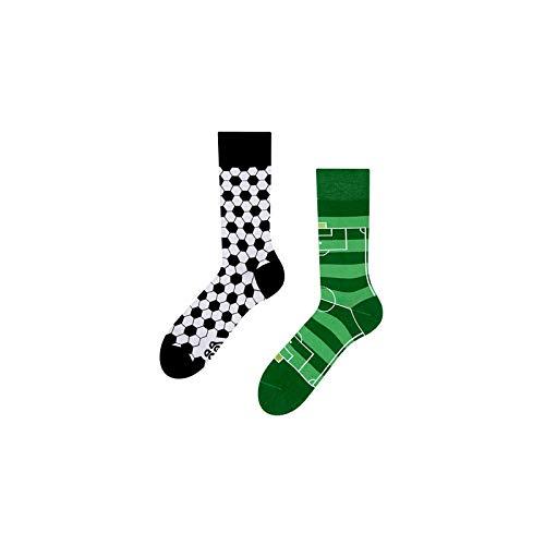 Good Mood Fußball Buntes Design-Geschenk Socken 1 Paar, Mehrfarbig, UK6-8/EU39-42/US7-9