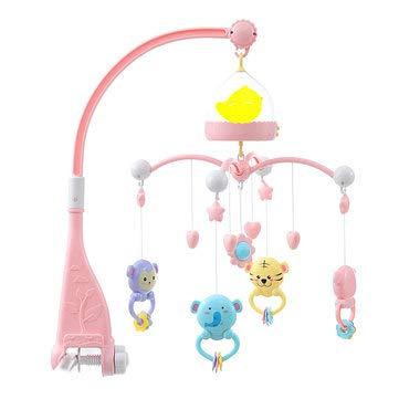 ExcLent Babybett Mobile Bett Glocke Hängen Inhaber Spieluhr Bogen Nachtlicht Neugeborenen Spielzeug - Blau