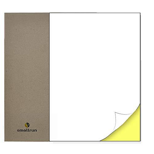 A4 Etiqueta Adhesiva Pegatina 1 etiquetas Blanca por hoja 100 Hojas 100 Pequeñas Etiquetas Autoadhesiva Etiquetas Adhesivas compatibles con impresoras de láser y tinta (BLANCO, 100 Hojas|1 por Hoja)