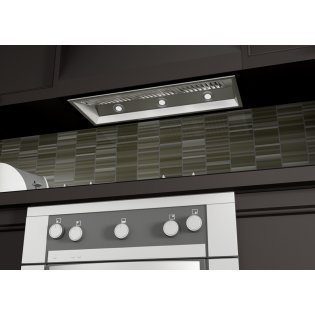 1200 CFM Ducted Wall Mounted Range Hood Size: 14.2″ H x 40″ W x 15″ D