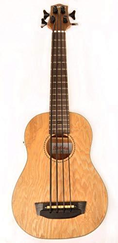 Hadean Acoustic Electric Bass Ukulele UKB-27 Quilted Maple