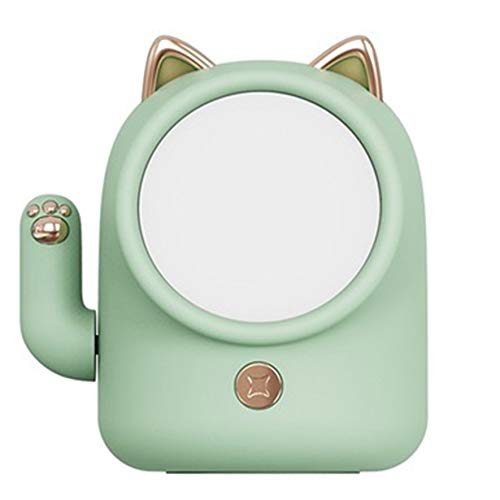 Creative Lucky Cat Night Light Kid Baby Nursery Light USB Lámpara de mesa recargable Decoración del hogar Lámpara de atmósfera - Verde